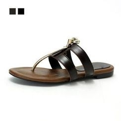MODELSIS - Genuine Leather Flip-Flops