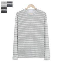 DANGOON - Two-Tone Stripe T-Shirt