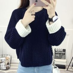 lilygirl - Ribbed Knit Top