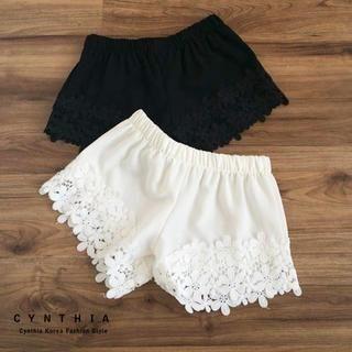 CYNTHIA - Lace-Trim Shorts