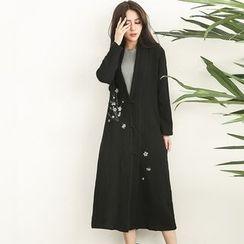 Diosa - Floral Print Long Jacket