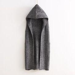 TOJI - Hooded Knit Long Vest