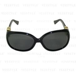 Glam-it! - Lady Sunglasses (Black Frames, Gold Logo, Smoke Gradient Lens)