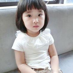 Happy Lala - 兒童短袖拼接上衣