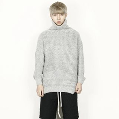 Rememberclick - Wool-Blend Turtle-Neck Sweater