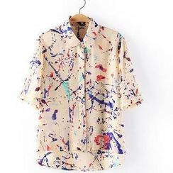 JVL - Paint-Splatter Chiffon Shirt