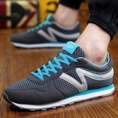 Muyu - Color Block Mesh Sneakers