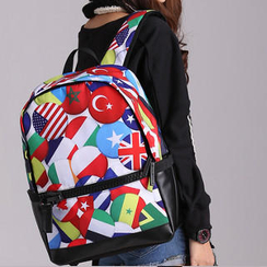 Bistar - Flags Pattern Backpack