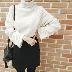 mimi&didi - Asymmetric-Hem Mini Skirt