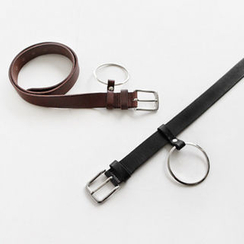NIPONJJUYA - Hoop-Accent Faux-Leather Belt