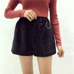 Octavia - Band Waist Wide Leg Shorts