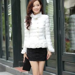 Lovebirds - Padded Ruffled Jacket