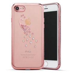 Kindtoy - Rhinestone Mobile Case - iPhone 7 / 7 Plus