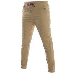 Hansel - Drawstring Straight-Leg Pants