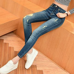 Oat & Barley - Distressed Skinny Jeans
