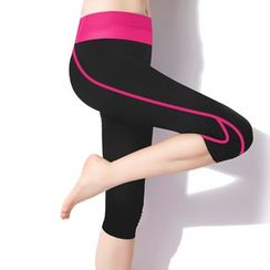 PUDDIN - Striped Yoga Pants