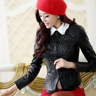 JVL - Faux-Leather Studded Jacket