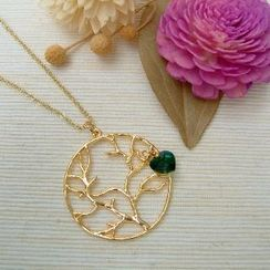 MyLittleThing - Golden Tree Circle Necklace