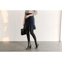UPTOWNHOLIC - Ruffle-Hem Skirt