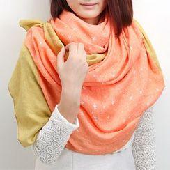 羚羊早安 - 拼色圍巾