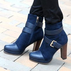 59th Street - Suede Buckled Ankle Boots