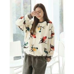BBAEBBAE - Bird Print Knit Sweater