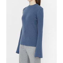 Someday, if - Bell-Sleeve Wool Blend Knit Top