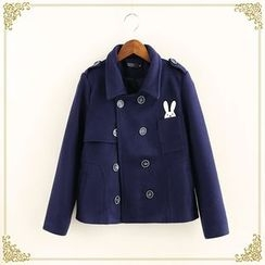 Fairyland - Rabbit Applique Double-Breasted Jacket