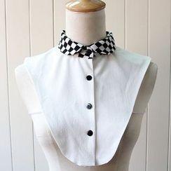 MIOW - Check Panel Decorative Collar