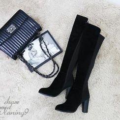NANING9 - High-Heel Tall Boots