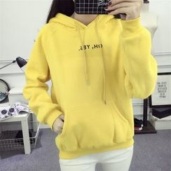 Century Girl - Letter Fleece-lined Hoodie