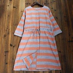 tete - 長袖條紋連衣裙