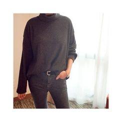 MASoeur - Turtle-Neck Rib-Knit Sweater