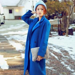 chuu - Wool-Blend Double-Breasted Long Coat