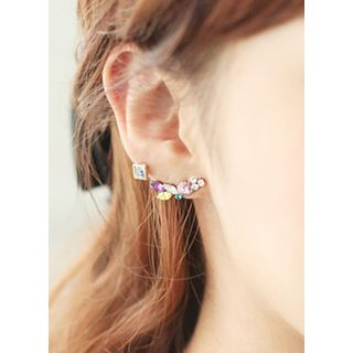kitsch island - Multicolor Rhinestone Earrings