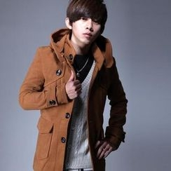 SeventyAge - Wool-Blend Single-Breasted Hooded Coat
