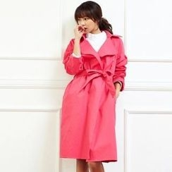 ANNINA - Open-Front Trench Coat with Sash