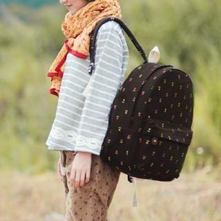 SUPER LOVER - Floral Canvas Backpack