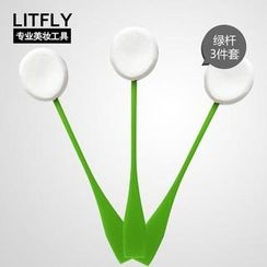 Litfly - Facial Lollipop Sponge (3 pcs)