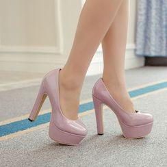 安若 - 厚底漆皮高跟鞋