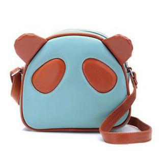 BeiBaoBao - Contrast-Trim Panda Crossbody Bag