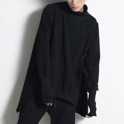 Bjorn - Dolman-Sleeve High-Neck Sweatshirt