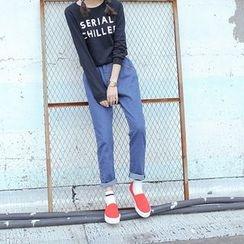Duterena - 纯色修身牛仔裤