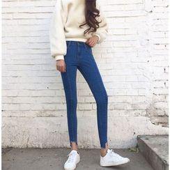 CHIH - 散边窄身牛仔裤