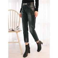 J-ANN - Distressed Blue Jeans