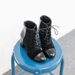 VIVIER - Lace-Up Zip-Back Boots