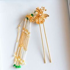 Ashmi - Bridal Tasseled Hair Pin