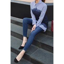 migunstyle - Washed Skinny Jeans
