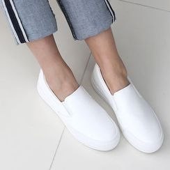 DANI LOVE - Round-Toe Genuine Leather Slip-Ons