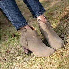 COCOAVENUE - 仿麂皮短靴